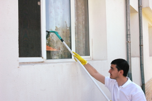 Window cleaning in Queens Road SW8