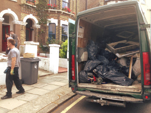Rubbish removal in Warren Street W1