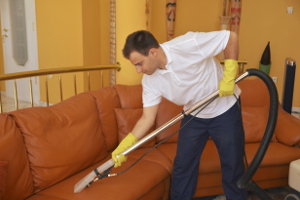 Professional sofa cleaning in Custom House E16